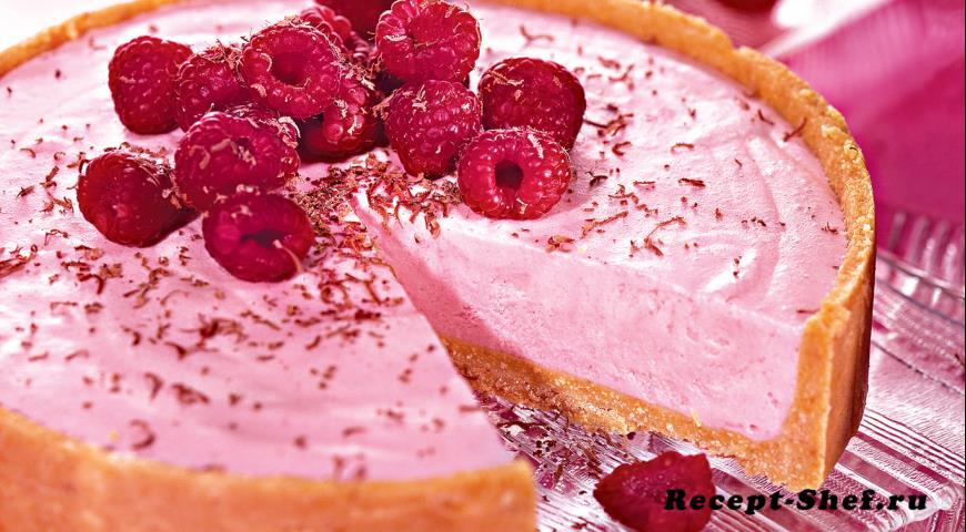 Малиновый торт-мороженое