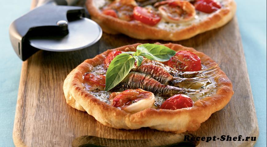 Пицца фритта наполитана с креветками