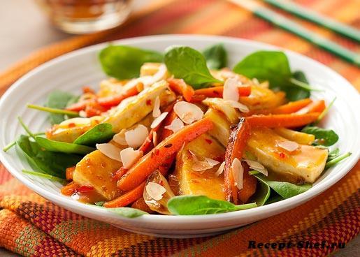 Тофу с морковью в апельсиновом соусе