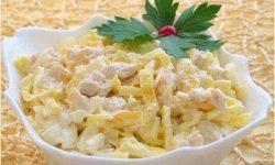 Салат «Нежность» с курицей и яйцами