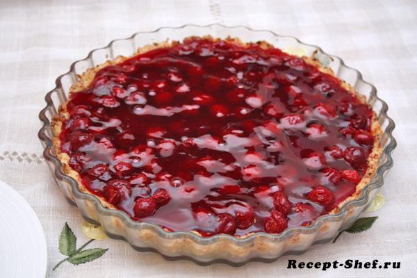 Вишневый пирог - подробный рецепт