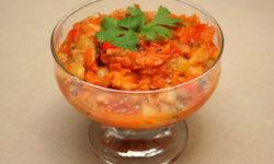 Икра из кабачков с помидорами и морковью