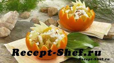 десерт Апельсиновые чашечки