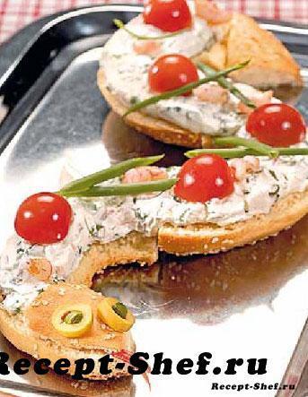 Закуска Бутербродная змейка