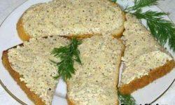 Рецепт сырного паштета из брынзы, чеснока и грецких орехов