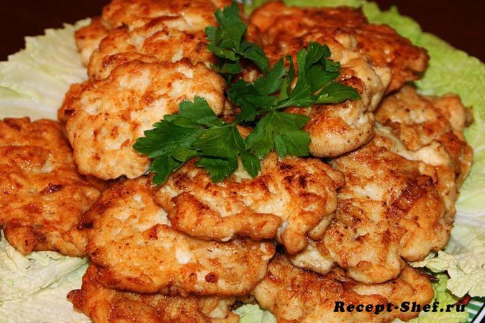 Рецепт рубленных котлет из куриной грудки с майонезом