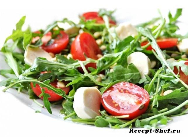 "Салат ""Каприз"" с помидорами черри и сыром моцарелла"