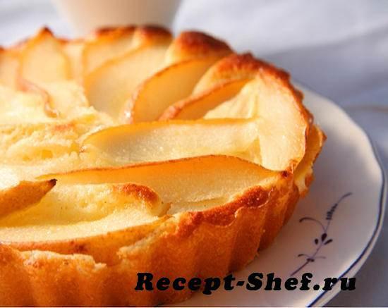 Пирог из груш и творога