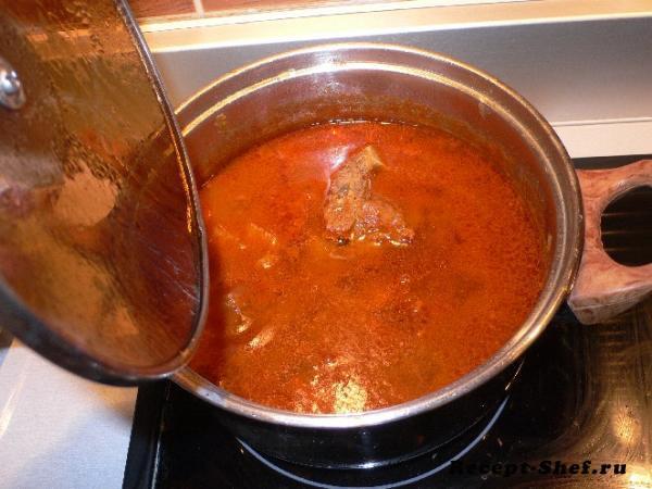 Суп на свиных косточках