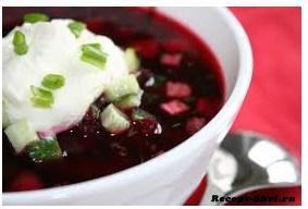 Рецепт первого блюда - холодник из свеклы