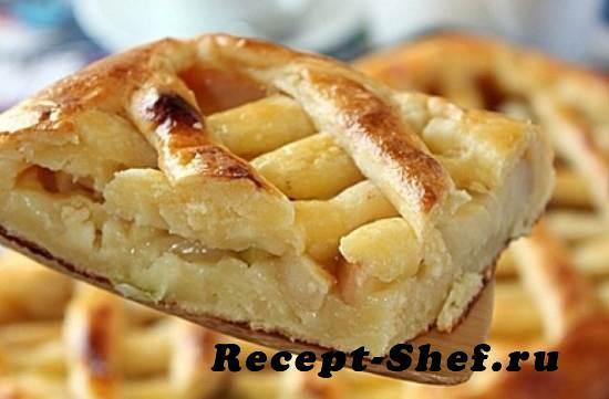 Пирог из творога и корицы
