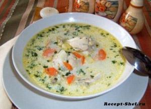 «Бабушкин» суп с галушками