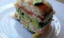 Японский суши-торт