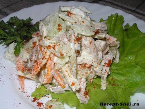 Салат из индейки с сельдереем