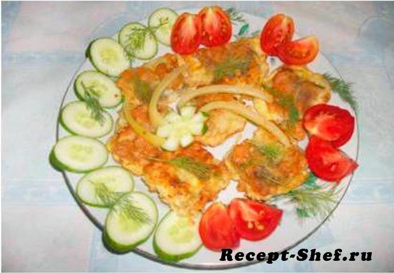 Жареная морская рыба с картофелем