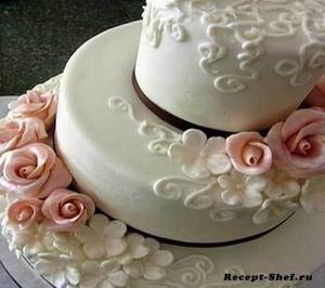 Рецепт торта для свадьбы «Белоснежный»