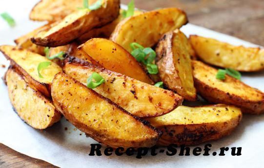 Картофельные ломтики в духовке