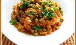 овощное рагу с кабачками помидорами и перцем