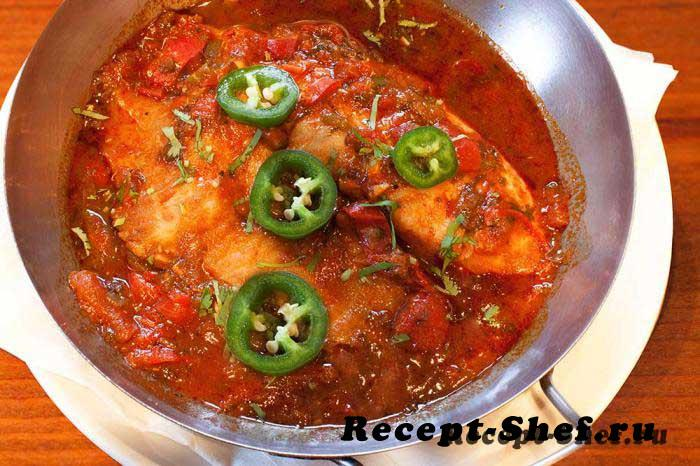 Рыба в остром соусе по-мароккански