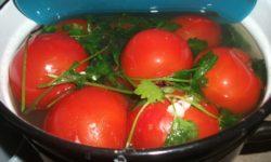 Как засолить помидоры в ведре