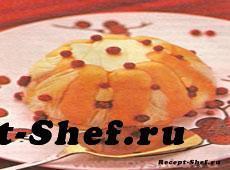 Кекс из манки с брусникой