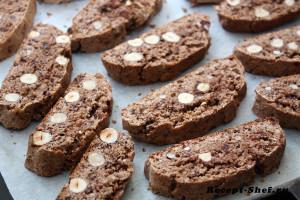 Рецепт печенья шоколадного с фундуком