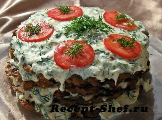Торт из баклажанов «Объедение»