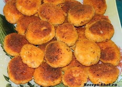 Куриные котлеты с начинкой из сыра и сливочного масла