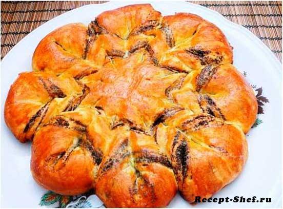 Пирог «Маковый цветок»