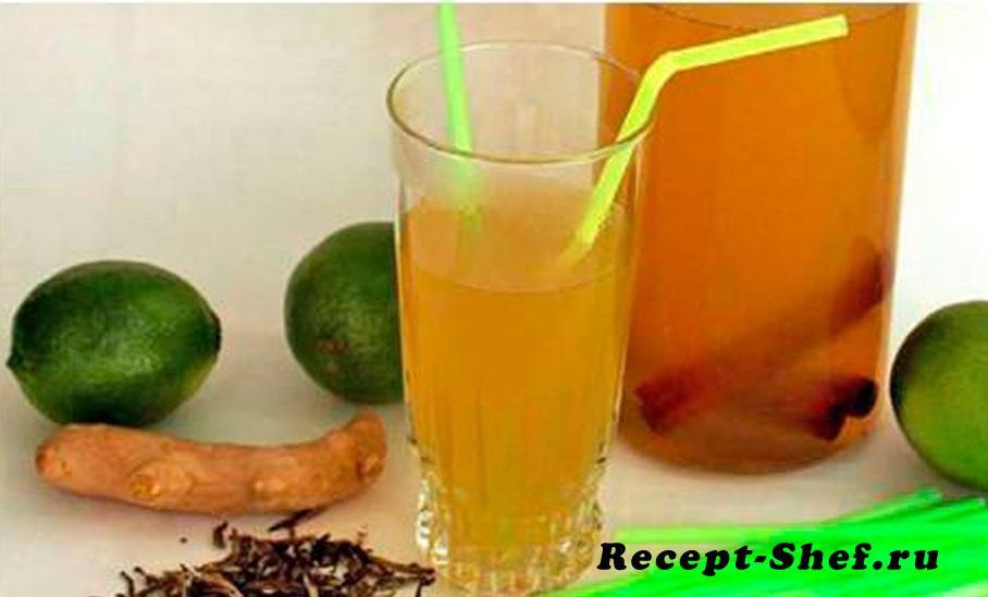 Имбирно-лаймовый лимонад
