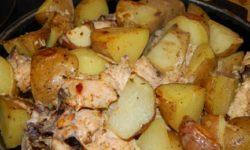 Курочка с картофелем по-деревенски