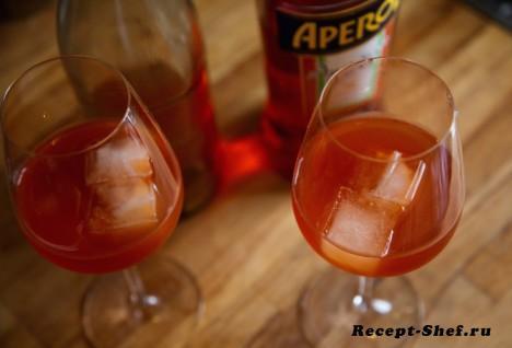 Коктейль «Aperol Spritz & Gransec Cinzano» - подробный рецепт