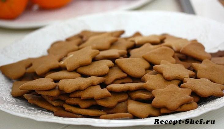 Классический рецепт печенья из молотого имбиря и корицы