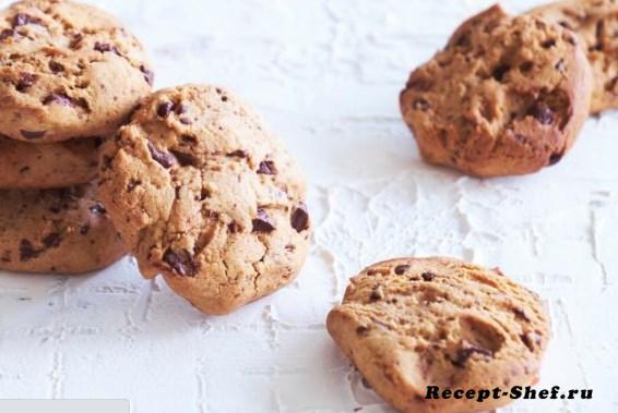 Имбирное печенье из гречневой муки с шоколадом