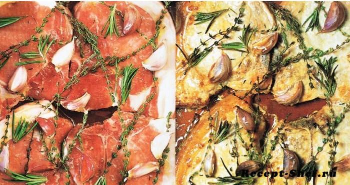 Свиные отбивные с пикантным соусом