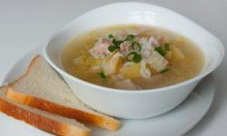 Суп с индейкой, картофелем и рисом