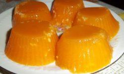 Фруктовое желе с грушами и абрикосами