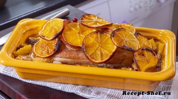 Запеченная свинина в апельсинах