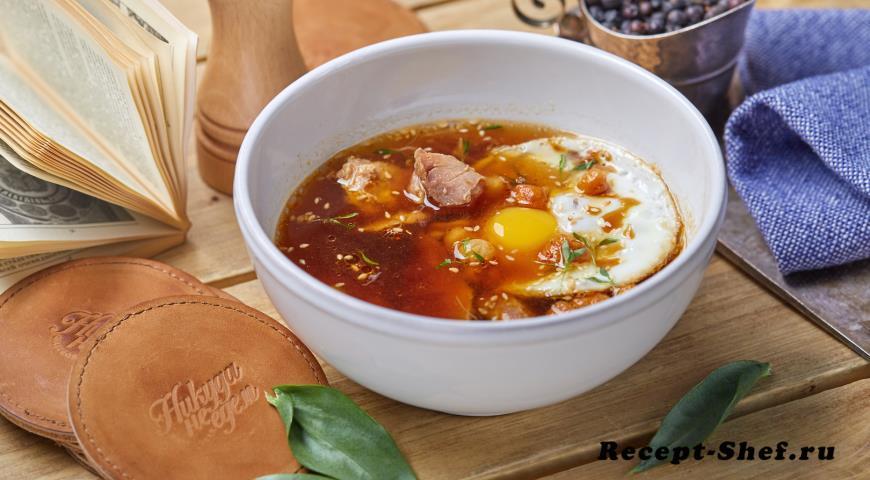 Суп из грибов с уткой