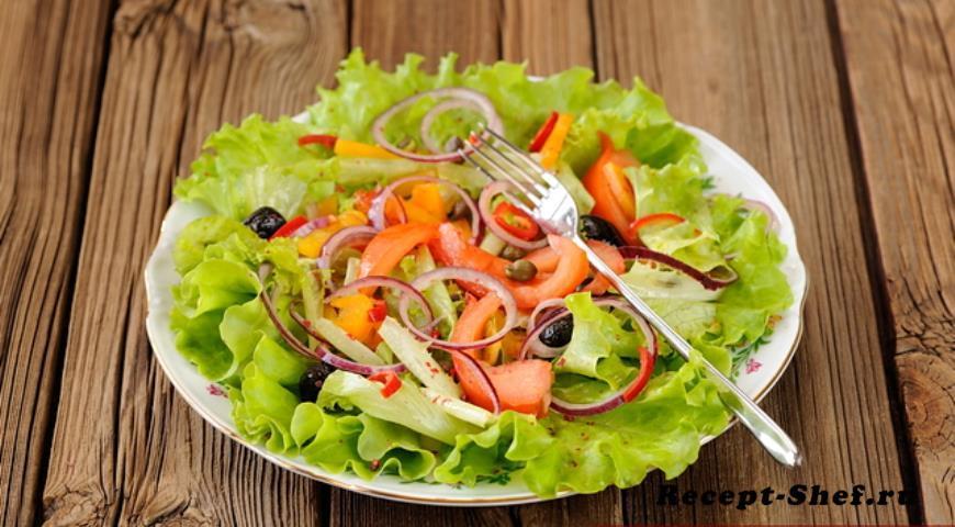Постный греческий салат