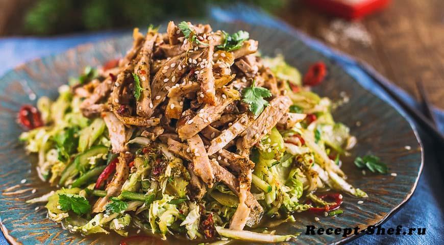 Мясной салат по-азиатски