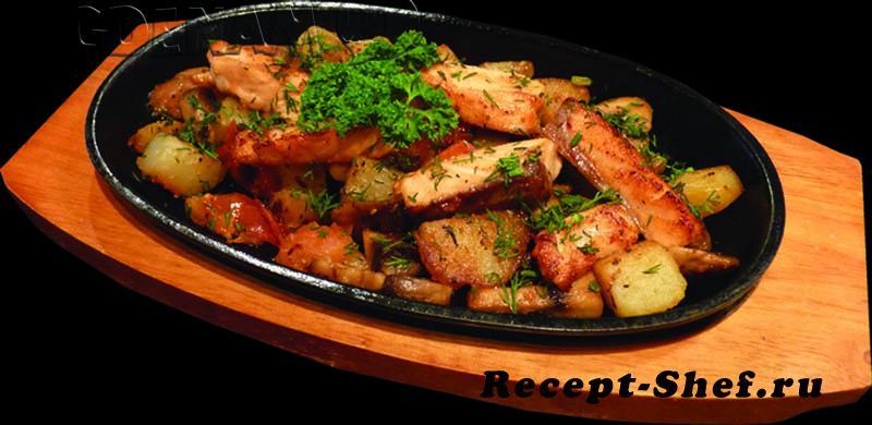 Рецепт свинины с овощами на сковороде с пошагово