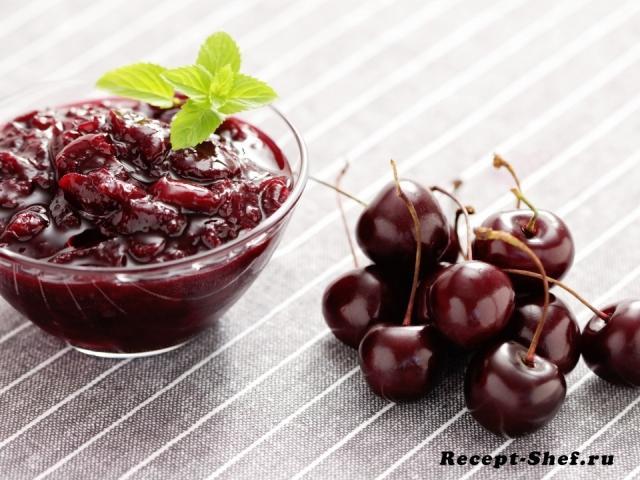 Варенье из плодов вишни без косточек