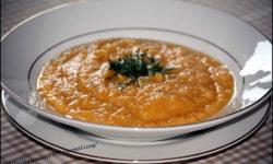 Детский суп-пюре из риса и моркови
