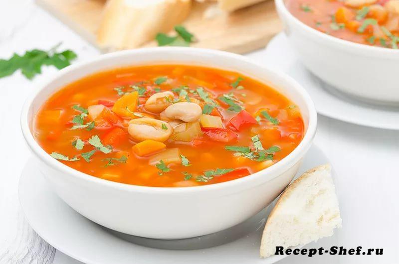 фасолевый суп - рецепт из красной фасоли