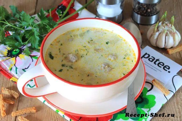 Сливочный суп с клецками