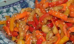 тушеные овощи с карри и шафраном