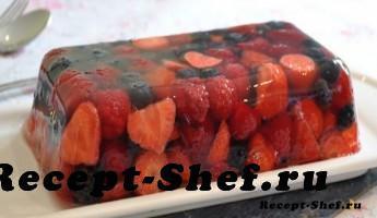 Желе из летних ягод