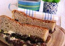 Хлебный пирог с мясной начинкой