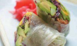 Роллы с овощами, жаренными на воке